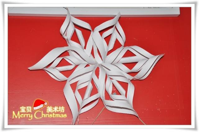 圣诞树雪花剪纸步骤