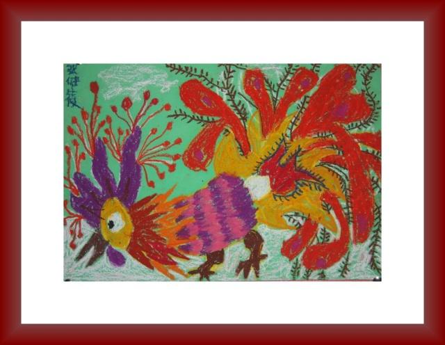 儿童海里的动物简笔画:螃蟹