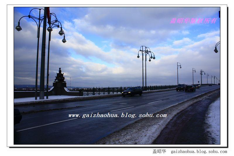 神圣罗马帝国王都的雪后景色