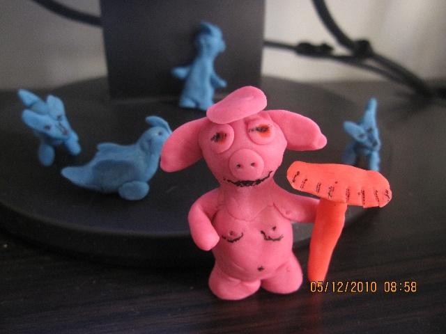 橡皮泥手工制作图片猪唐僧