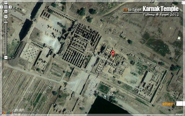 神庙的位置,点击看大图卡纳克神庙是埃及最大的神庙,修建的...