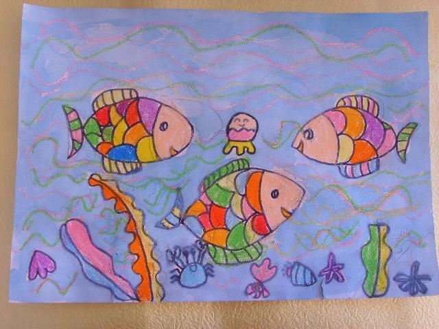 幼儿海底世界油画棒