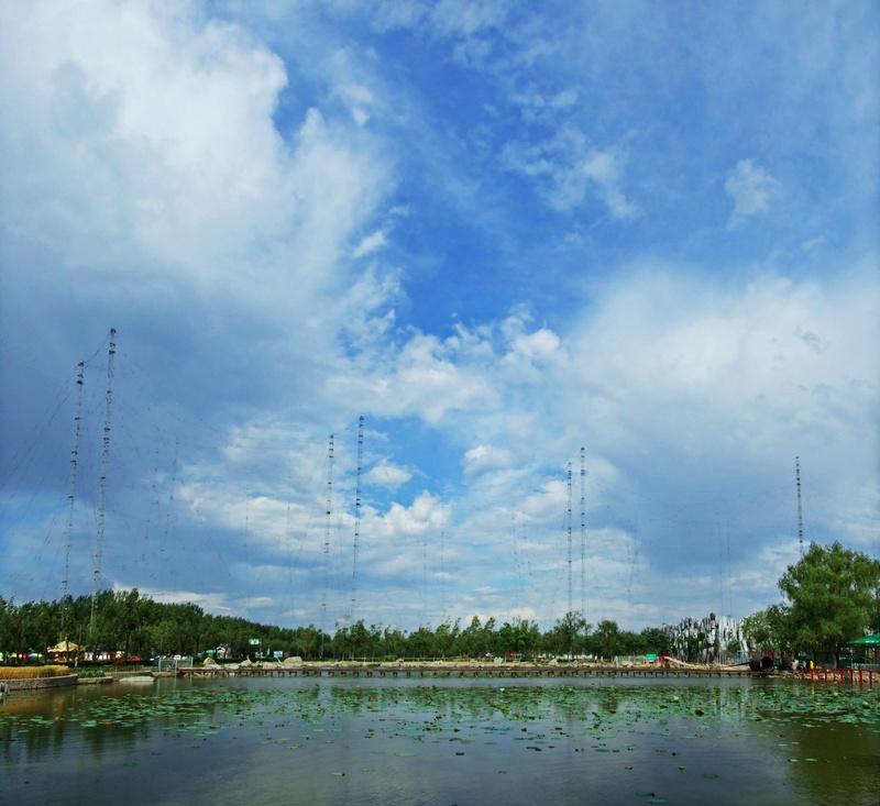 蟹岛湖早晚观云霞--游北京蟹岛度假村