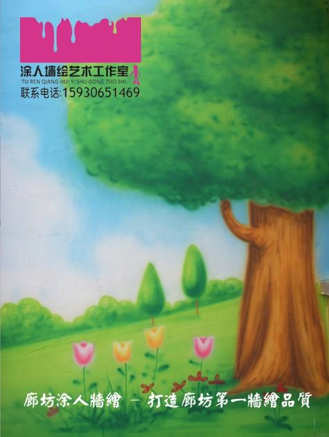幼儿园手绘墙画 墙绘 墙体喷绘 墙体喷画 卡通墙画--廊坊涂人墙绘