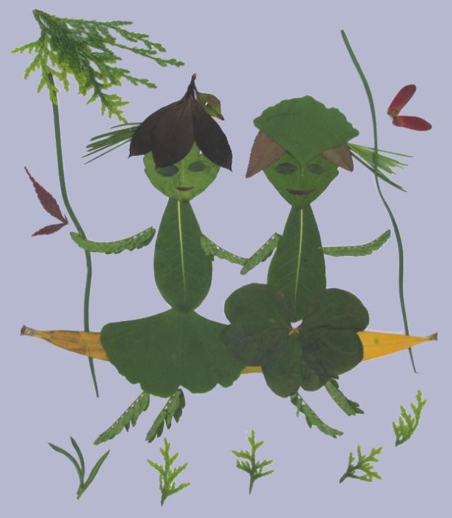 树叶粘贴画作品,教师作品树叶粘贴画,小学生树叶粘贴画作品,树叶