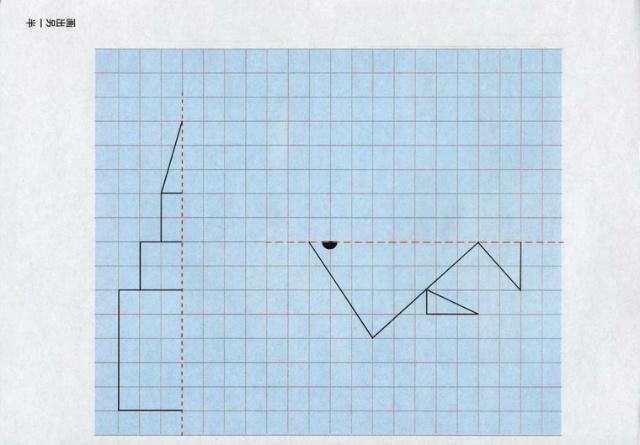 并能够画出简单图形的对称轴,如长方形,正方形,五角星等,要求是对称轴