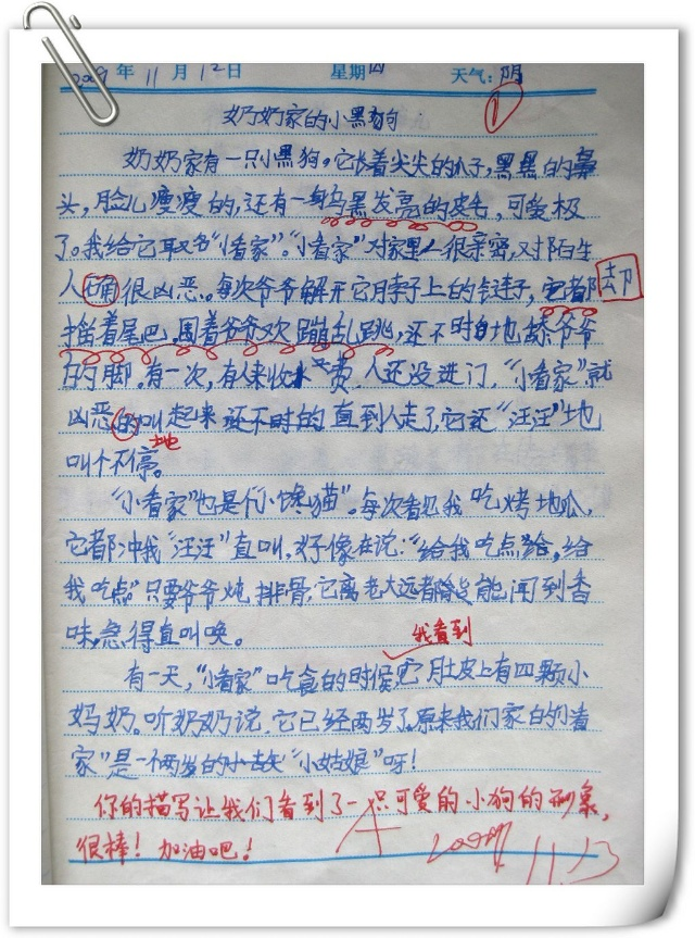 小学一年级日记50字:去奶奶家