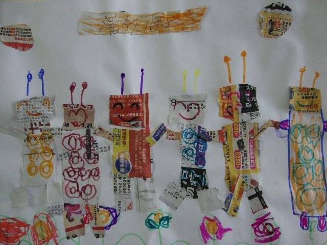 幼儿园小朋友的美术作品