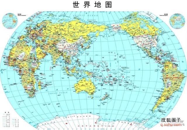 五大洲人口和国家