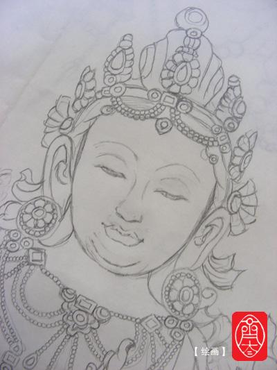 精美铅笔手绘佛像