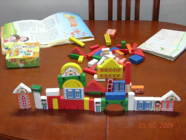 幼儿园画房子积木简单图片