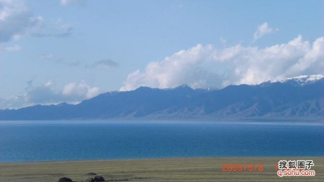 简单水粉画风景湖