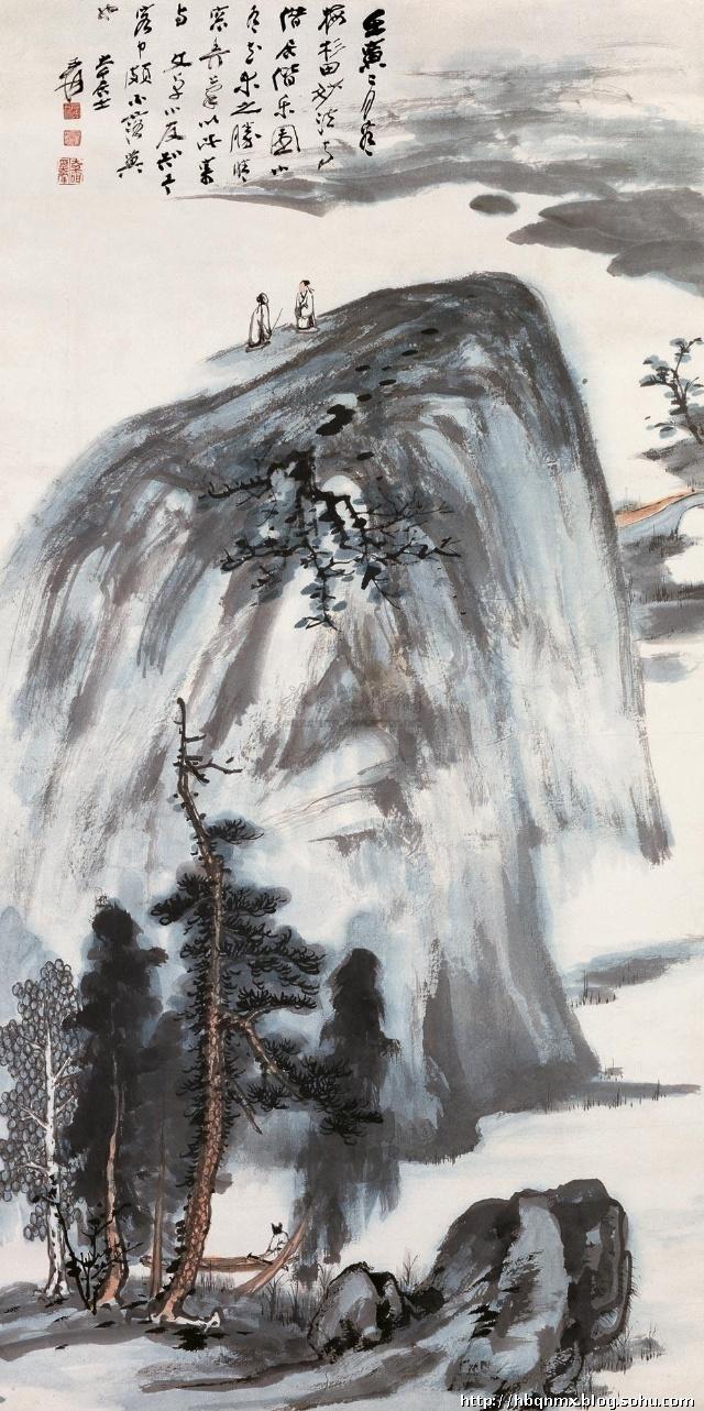 张大千(1899~1983) 中国现代中国画家图片