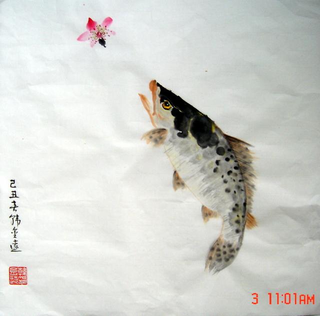 ��d�9�$y���jf��+9.gzf�_鳜鱼桃花(韩金远画)_gzfyhjy