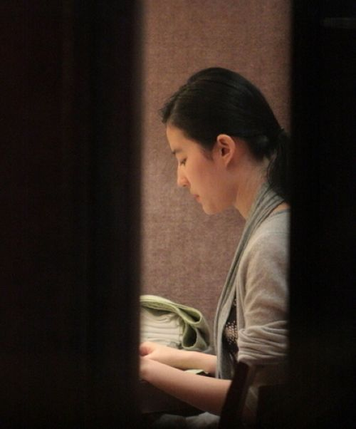 刘亦菲最新素颜照曝光被批显老气(组图)-陈晨的八卦