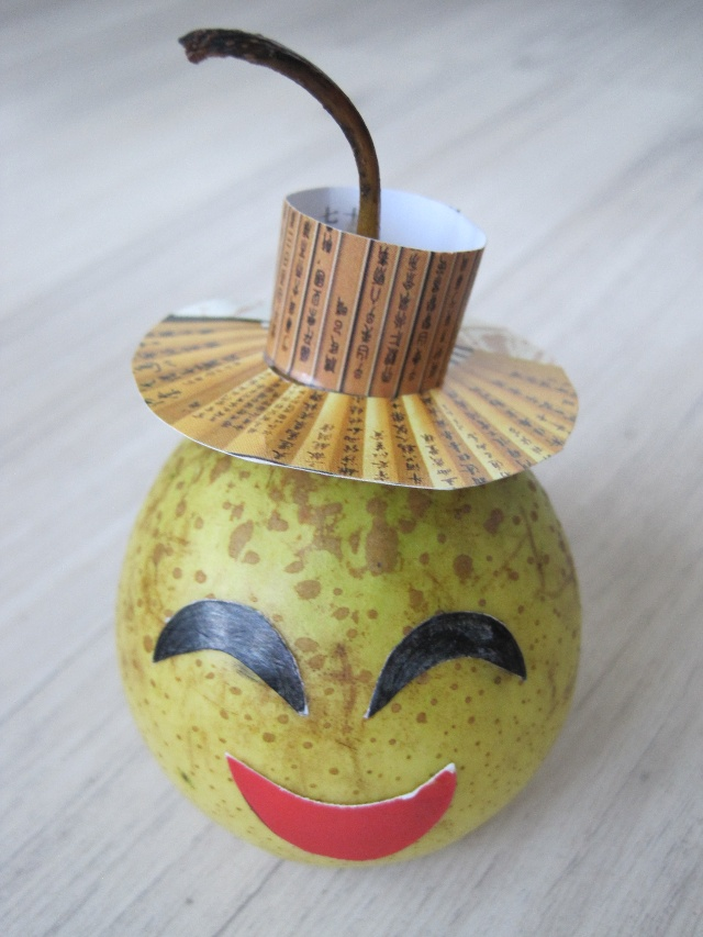 水果娃娃---幼儿园的亲子作业之一