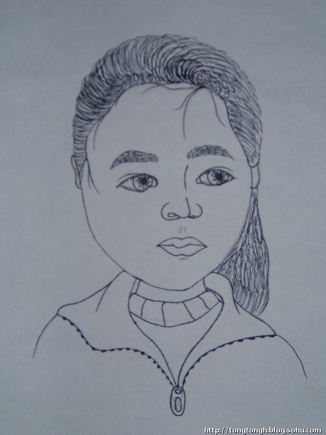创意线描人物头像