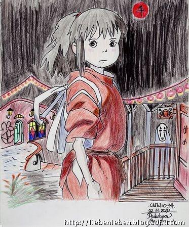 动漫卡通画女生铅笔画