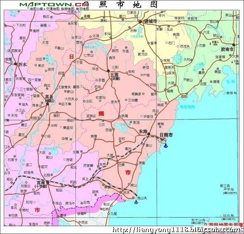 山东莒县到石岛的地图