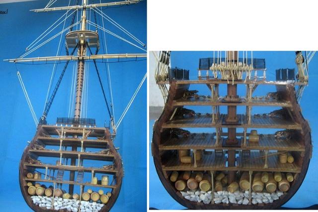 1.三桅帆船的剖面图