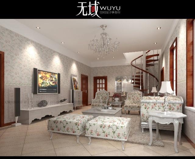 内蒙古鄂尔多斯市某500平米私人别墅 恬静幽然 新法式田园风格案例赏析