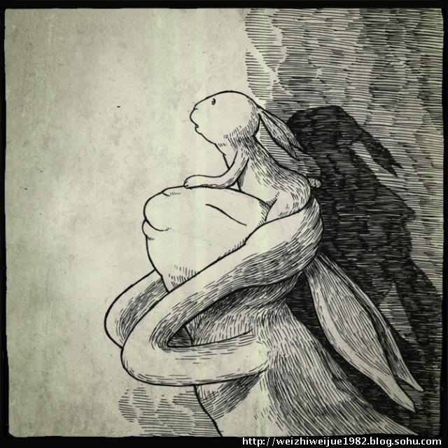 素描小兔步骤图