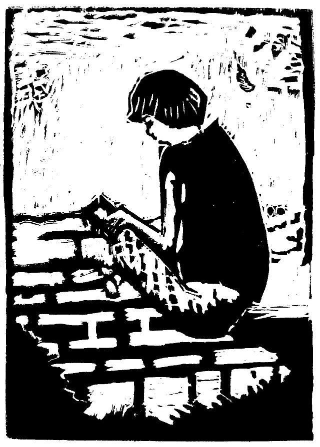 少儿木刻版画临摹作品选登