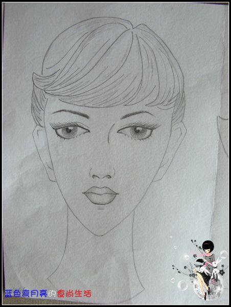 两张貌似素描的美女头像