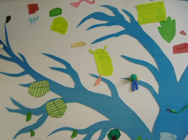 公开课教案 树叶作画图片