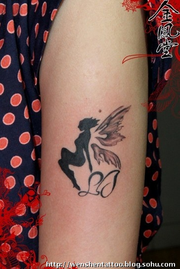 经典图腾纹身,包臂纹身图案,天使和太阳图片