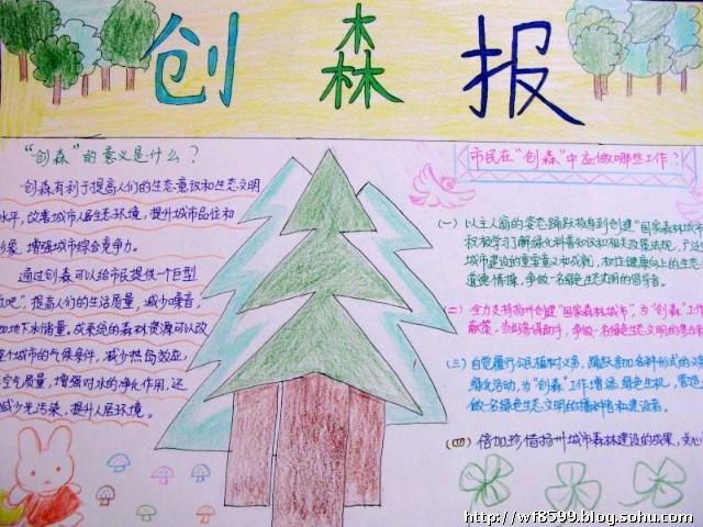 创建森林城市手抄报