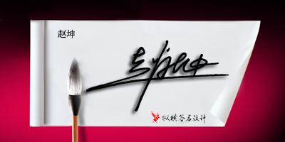 雪浩签名设计 赵坤-纵横签名艺术-搜狐博客