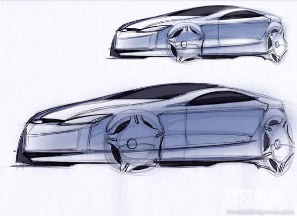 透视与汽车草图教程(3)平两点透视(转载)