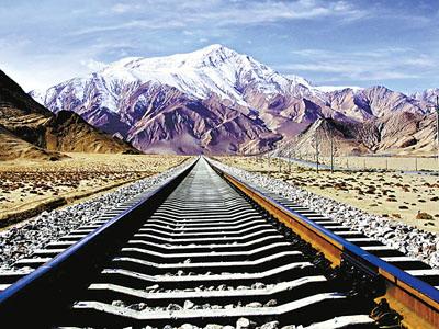 简约铁路风景背景素材